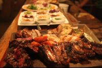 argentine parrillada at casa del mar restaurant