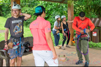 gearing up for los canones canopy tour