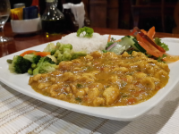 caribbean style sweet coconut milk chicken curry tabanuco restaurant