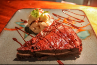 chocolate banana brownie
