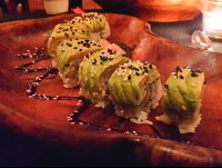 caterpillar roll at buddha eyes restaurant