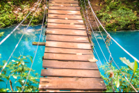 celeteste river hanging bridge