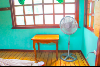 fan with small table las cotingas