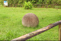 sphere close to the hut grounds