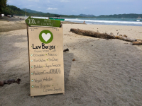 luvburger sign beachfront 