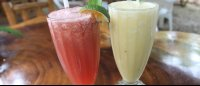watermelon mint and coconut pineapple drinks