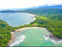manuel antonio national beach aerial views 
