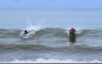 dominicalito waverider paddling 