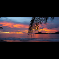sunset in papagayo