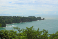 view from end of mirador trail manuel antonio park