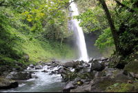 fotuna waterfall further upstream   - Costa Rica