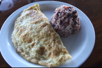 omelet and gallo pinto lagarta lodge