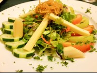 heart of palm salad at mastico restaurant 
