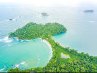 manuel antonio national park cathedral point looking south aerial views