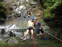 costa canyoning couple 