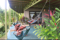 hammocks on patio of main building surf vista villas