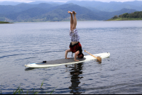 sup lake arenal headstand 