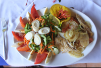 grilled fish salad plate costacoral 
