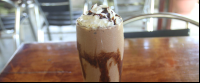 organic chocolate banana smoothie