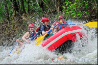 rafters on the rapids of balsa river arenal  - Costa Rica