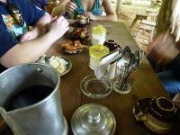 Guests at the Farm Are Treated to Coffee