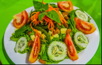 house salad at agua dulce resort