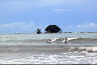 Surfing in Dominicalito
