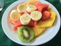 fruit plate breakfast leyenda restaurant   - Costa Rica