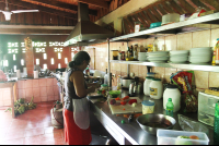 inside kitchen la cocina dona ana   - Costa Rica