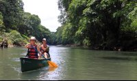 Canoeing on Peñas Blancas River