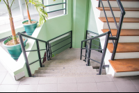 stairways towards the first floor