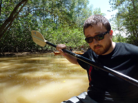 manglar isla mangrove kayak looking fly 