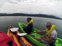 whale tail kayak tour on the ocean 