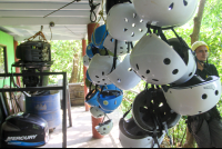head gear for canopy tour  - Costa Rica