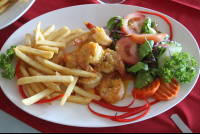 el ancla garlic butter shrimp fries 