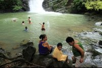 posa azul waterfall locals 