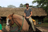 discovery horseback tour getting comfortable 