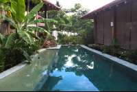 long pool to the end of property