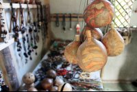 Jewelry made using local materials on the Kekoldi Reservation