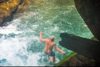 guy jumping off Portalon waterfall tour manuel antonio