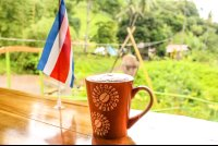 coffee mug with costa rican flag drake bay cafe