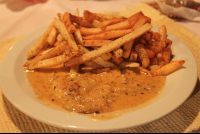 swordfish in white wine with french fries