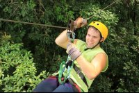 chiclets canopy tour closeup   - Costa Rica