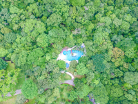 aerial view of spa facilities and hotel in borinquen property rincon de la vieja volcano