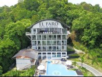 el faro hotel superior areal view main building with pool