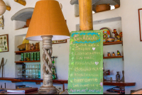 drink menu at finca exotica restaurant carate