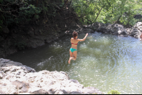 jumping off small cliff  - Costa Rica