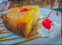 upside down pineapple cake back profile