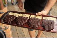Artisanal chocolate made from local cacao