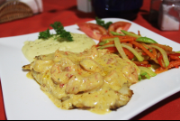 halibut shrimp bell pepper sauce restaurant dona sixta 